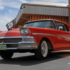 Red Fairlane on Route 66 photo
