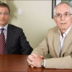 Financial advisor with client photo